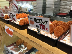 Komachiトラベル:近江町市場の肉コロッケ