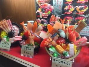 Komachiトラベル:近江町市場の海鮮丼サンプル