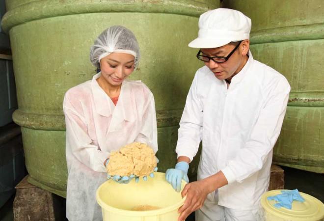 【世界にひとつのマイみそ】峰村醸造蔵見学& みそ仕込み体験